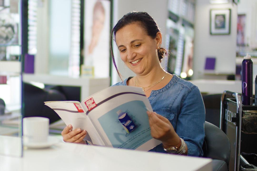 Unterhaltung im Friseursalon mit dem Lesezirkel